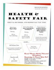Reach Health Fair Flyer